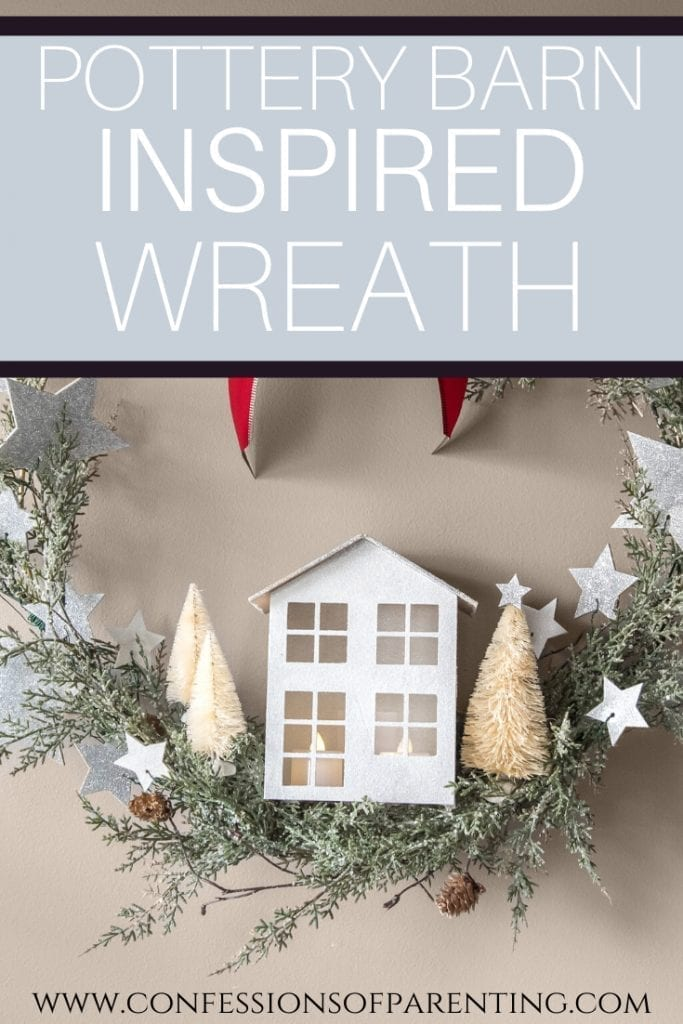 Looking for a beautiful Christmas wreath, but don't want to spend a fortune? Check out this Pottery Barn Knockoff Cricut craft project that will wow everyone!
