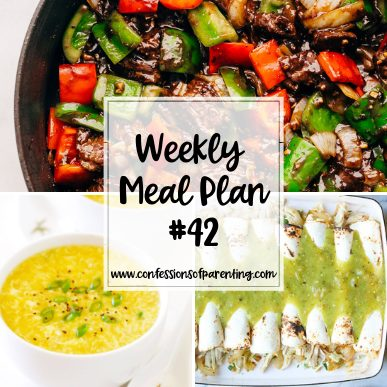 just a snap weekly meal plan for families