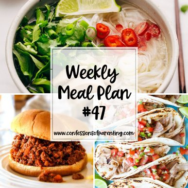 Sometimes moms have to keep going no matter how tired we are. Let our weekly meal plan for persistent moms help you out so you can relax a little more!