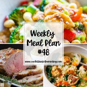 Finding good recipes for dinner can be hard. Use our worthwhile weekly meal plan for families to add a few new recipes to your meal plan rotation!