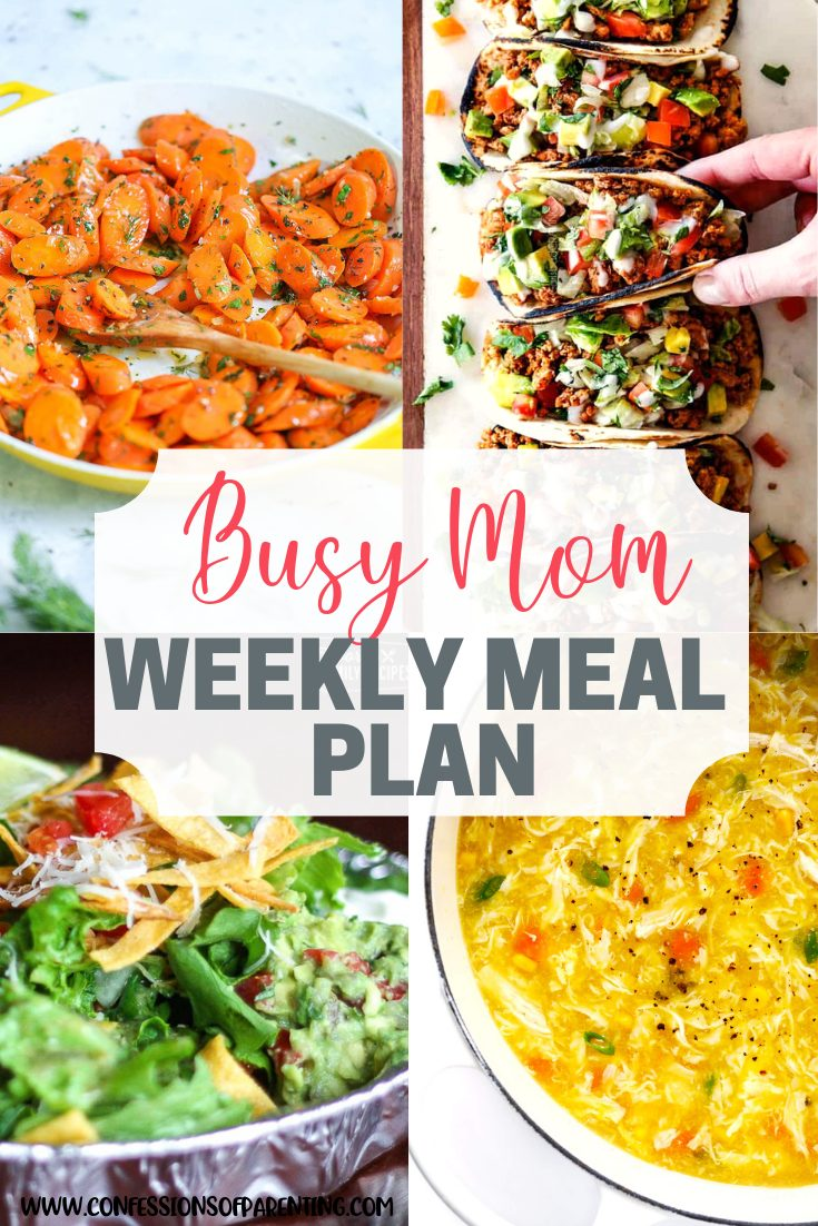 doable weekly meal plan for families