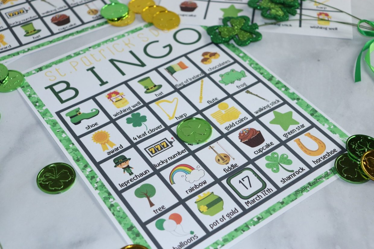 St. Patrick's Day is the perfect time for celebration and family-fun! Create a fun new tradition with this free St. Patrick's Day Bingo printable.