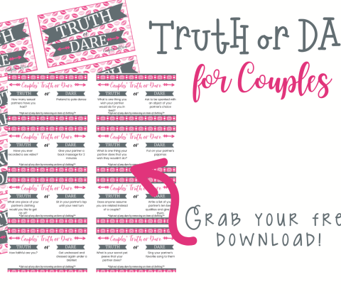 Make date night a lot more interesting with truth or dare for couples! Get to know your loved one while having a fun time. Truth or dare for couples is a great way to spend your evening relaxing and having fun together.
