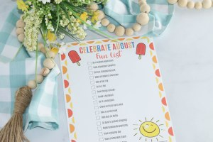 Make the most of your summer with these ideas to help your family Celebrate August! You don't want to leave any of these things off your August bucket list!