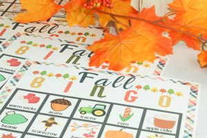 This Fall Bingo free printable is a great way to teach your kids the changing seasons & get excited about fall with this fall bingo free printable!