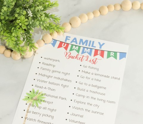 Bucket lists are a great way to do fun and new things. This Family summer bucket list is full of fun ideas for the whole family.