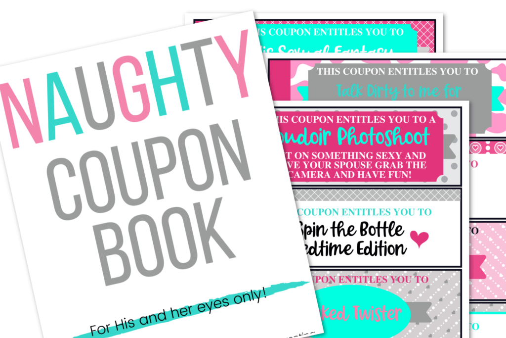 picture of naughty coupon book or love coupons for couples
