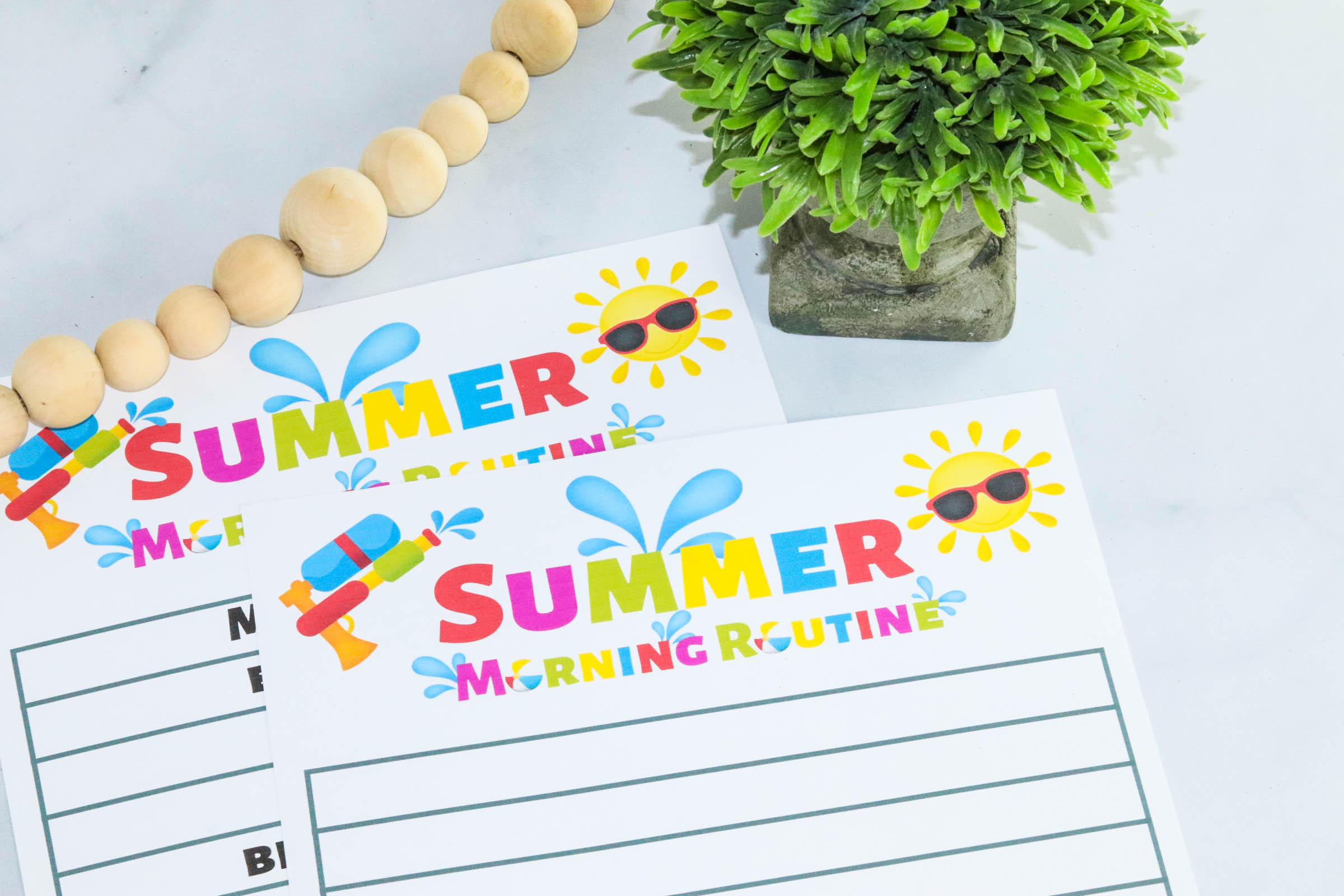 Nervous about transitioning to summertime and losing your structure? This simple summer morning routine for kids helps keep kids and moms organized all summer long.