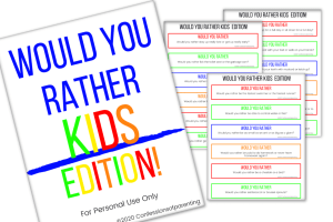 Looking for a great way to entertain your kids or bond as a family? Download our would you rather questions for kids and watch your kids have fun!.