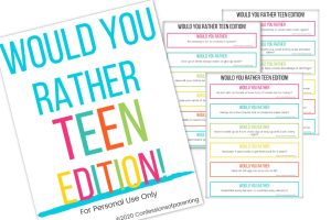 Looking for a fun activity for your teens to enjoy? Share this list of 100 would you rather questions for teens and they'll have a blast playing with friends!