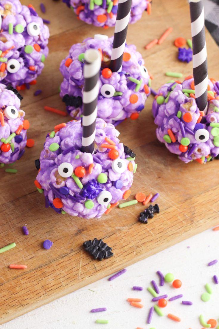 DIY Halloween Popcorn Balls