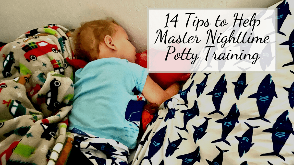 toddler mastering nighttime potty training