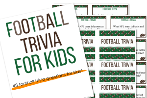 picture of football trivia for kids printable cards