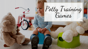 toddler with bears to help parents with potty training games