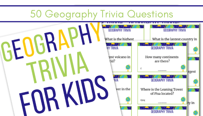 picture of Geography trivia question cards