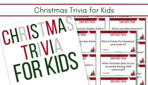 image of Christmas Trivia for kids card printable