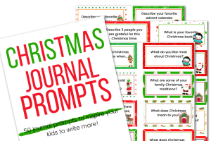 picture of Christmas journal prompts printable