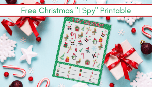 picture of the Christmas I Spy Printable