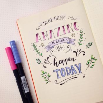 Something Amazing is going to happen today