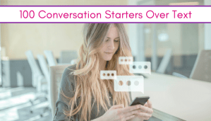 girl using conversation starters over text