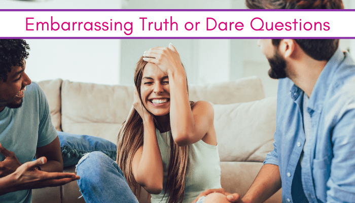 girl doing an embarrassing truth or dare questions