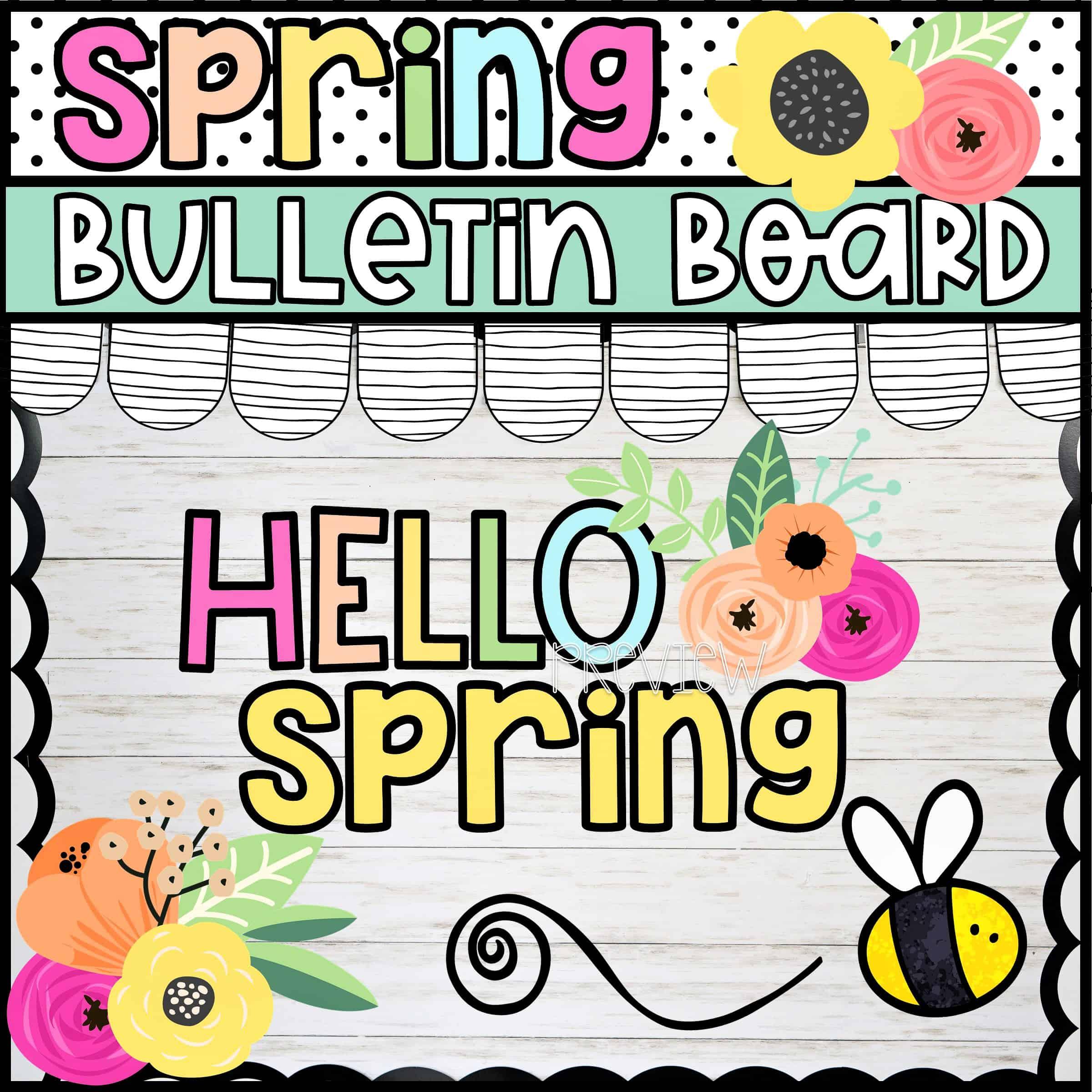 2 Fresh Spring Bulletin Board Ideas Confetti And Creativity