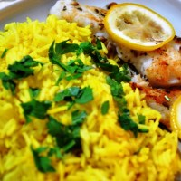 Grilled Fish with Spiced Rice