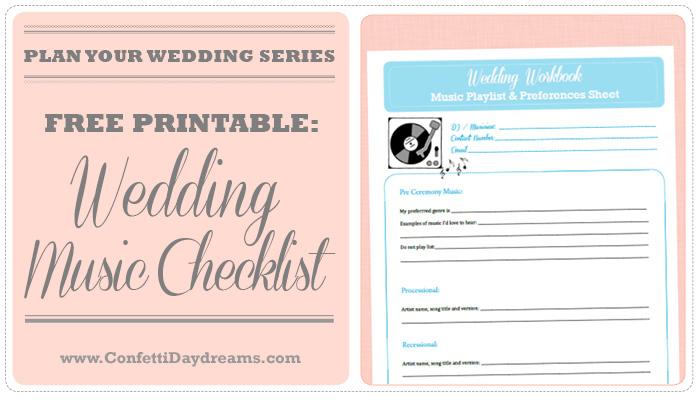 Wedding Music Checklist {Wedding Planning Series}
