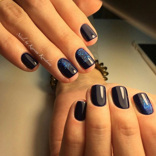 Fashionable manicure with sparkles and glitter: photos, the best ideas 4