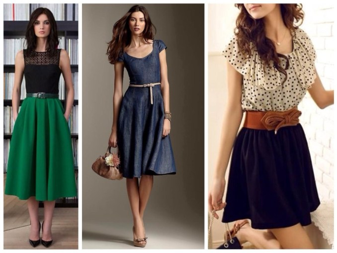 skirt and dress images for pear type