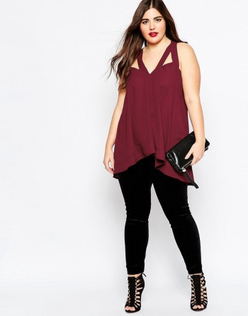 tunic flare silhouette in the image of donuts