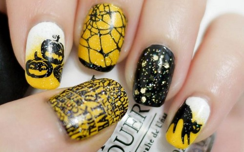 Fashionable manicure with sparkles and glitter: photos, the best ideas 8