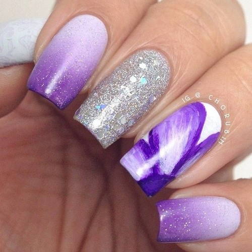 Fashionable manicure with sparkles and glitter: photos, the best ideas 43