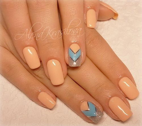 Fashionable manicure with sparkles and glitter: photos, the best ideas 36