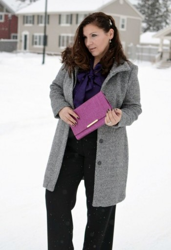 elegant winter look for a full woman
