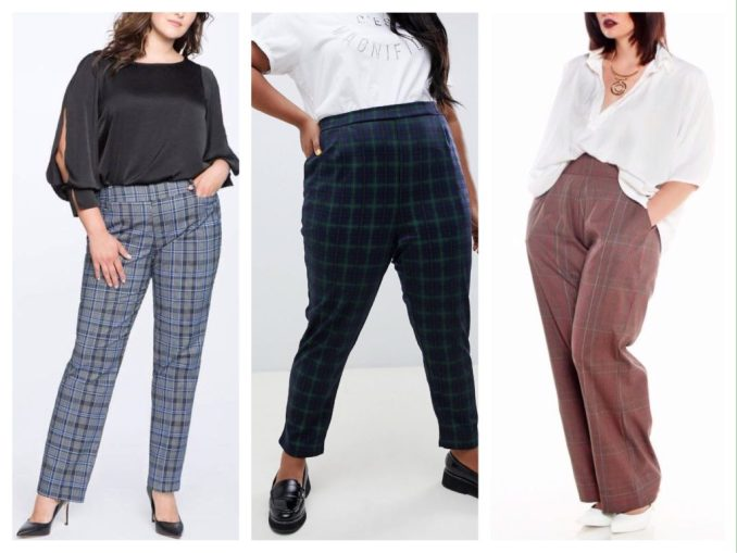 variants of evening sets in check pants full