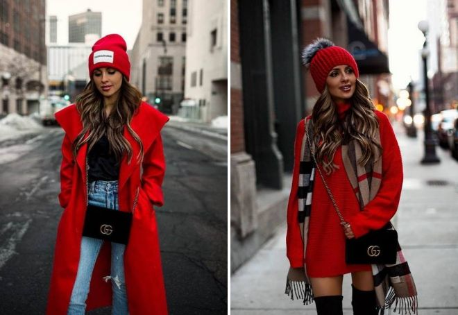 Women's red hat