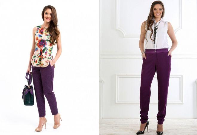 eggplant pants