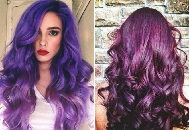 eggplant hair color