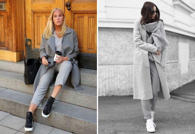 Gray monochrome in clothes