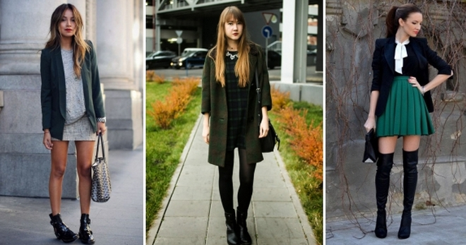 How to combine and wear Dark green color Clothes