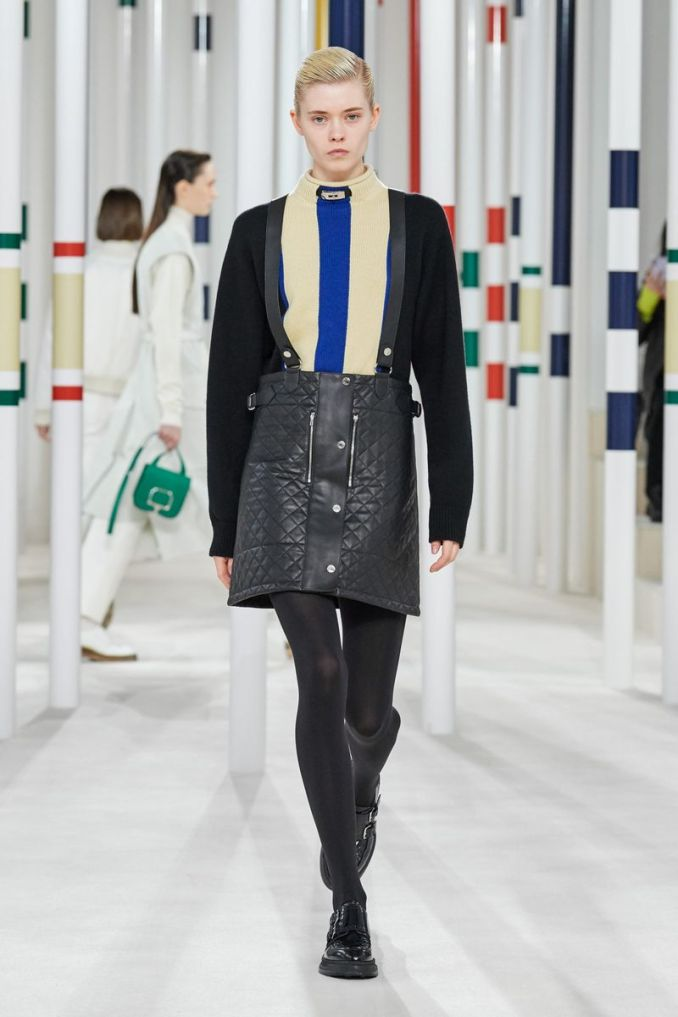 Fashionable skirt with buttons fall-winter 2020-2021 from the Hermès collection