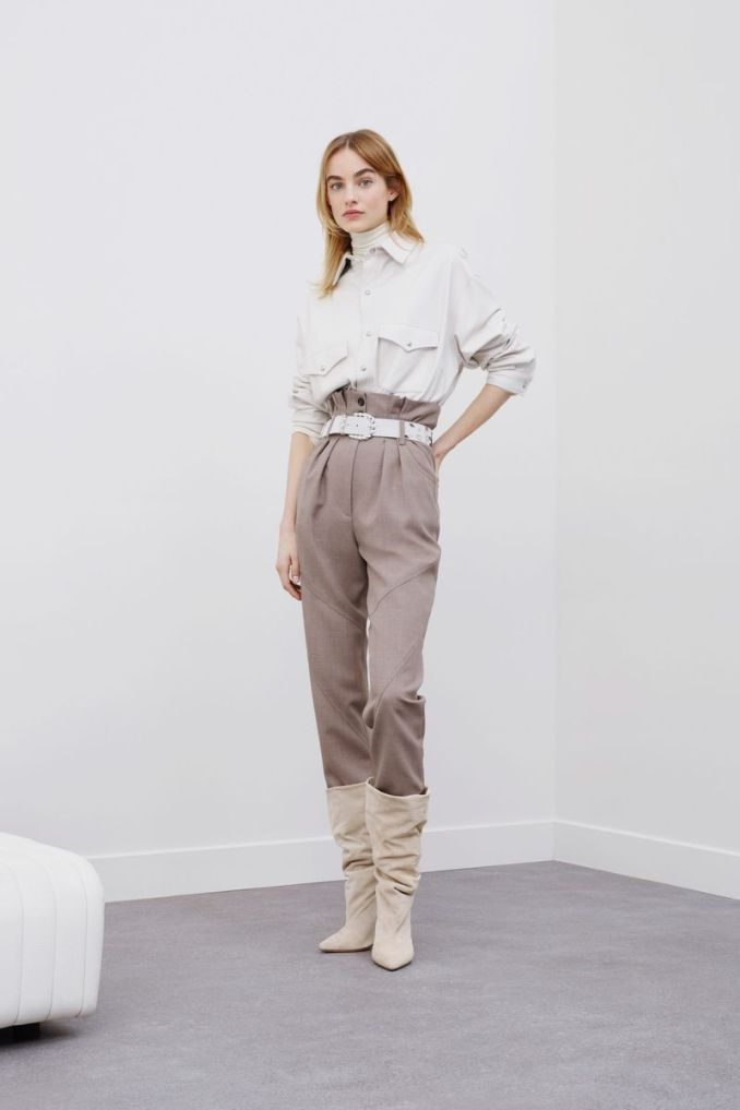 Fashionable slacks trousers from the fall-winter 2020-2021 IRO collection