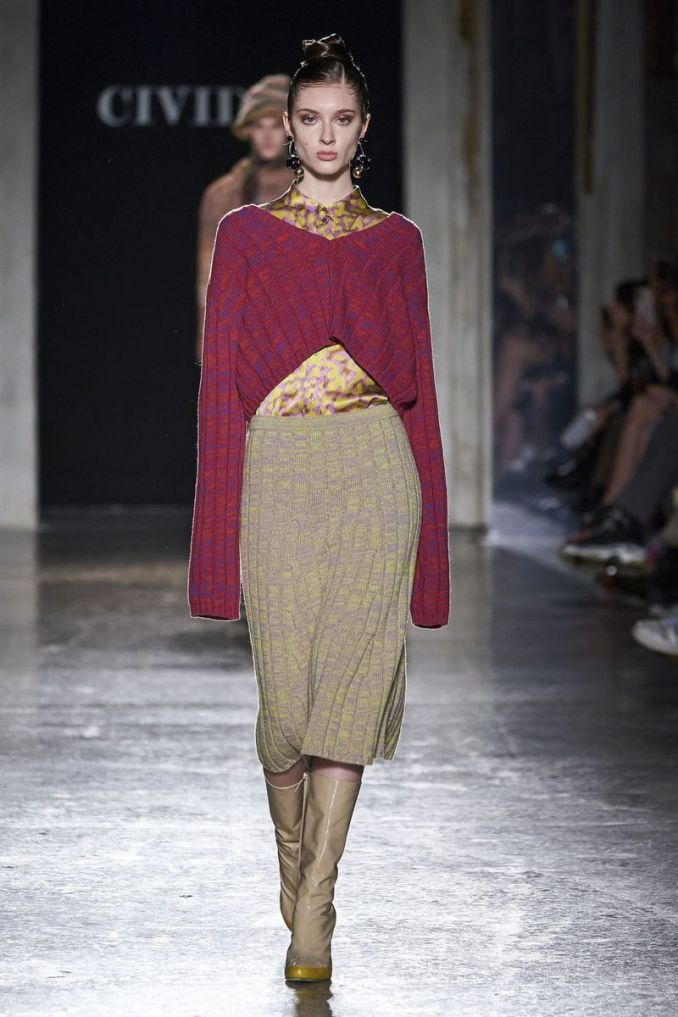 Fashionable knitted and crocheted skirts fall-winter 2020-2021 from the Cividini collection