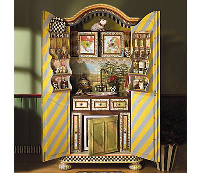 {armoire Turned Into A Mini Kitchen}