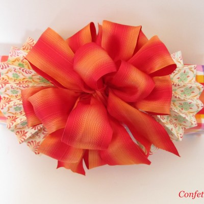 Gift Wrap Inspiration–A Bold Bow