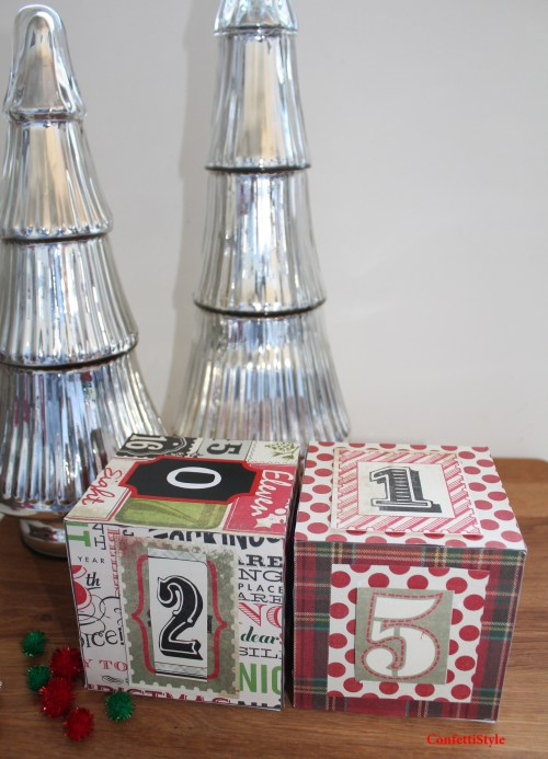 Christmas Countdown Blocks by ConfettiStyle