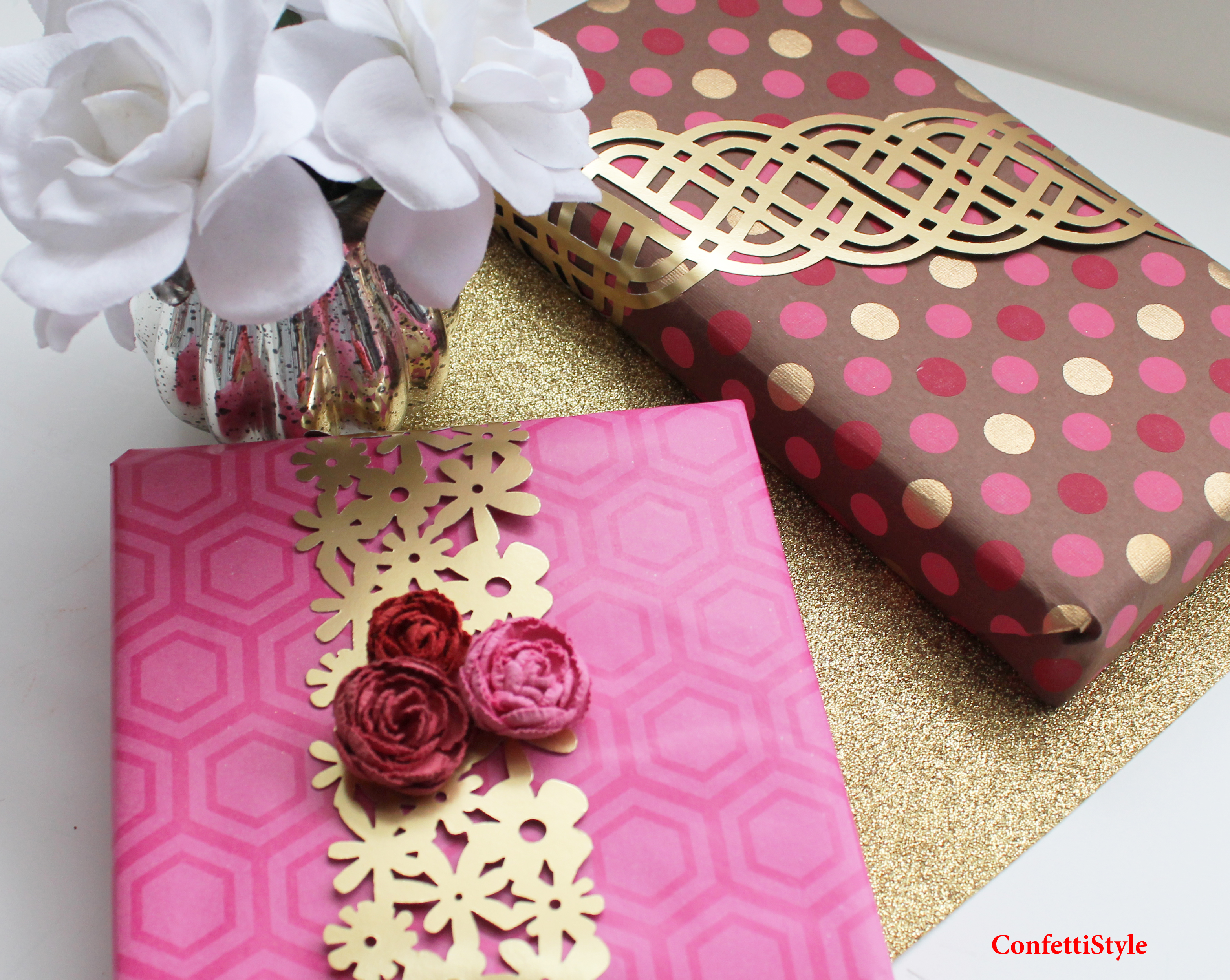 Gift Wrap Inspiration: Paper Lace Band   ConfettiStyle