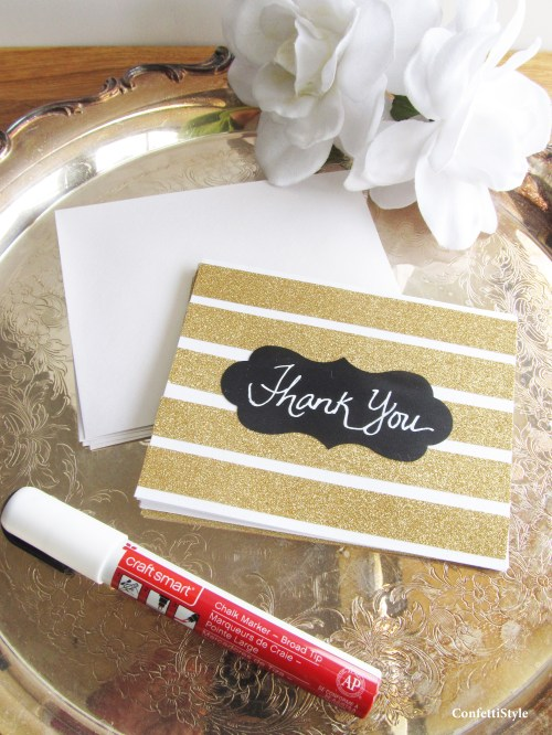 Glitter Stripe Notecards by ConfettiStyle4