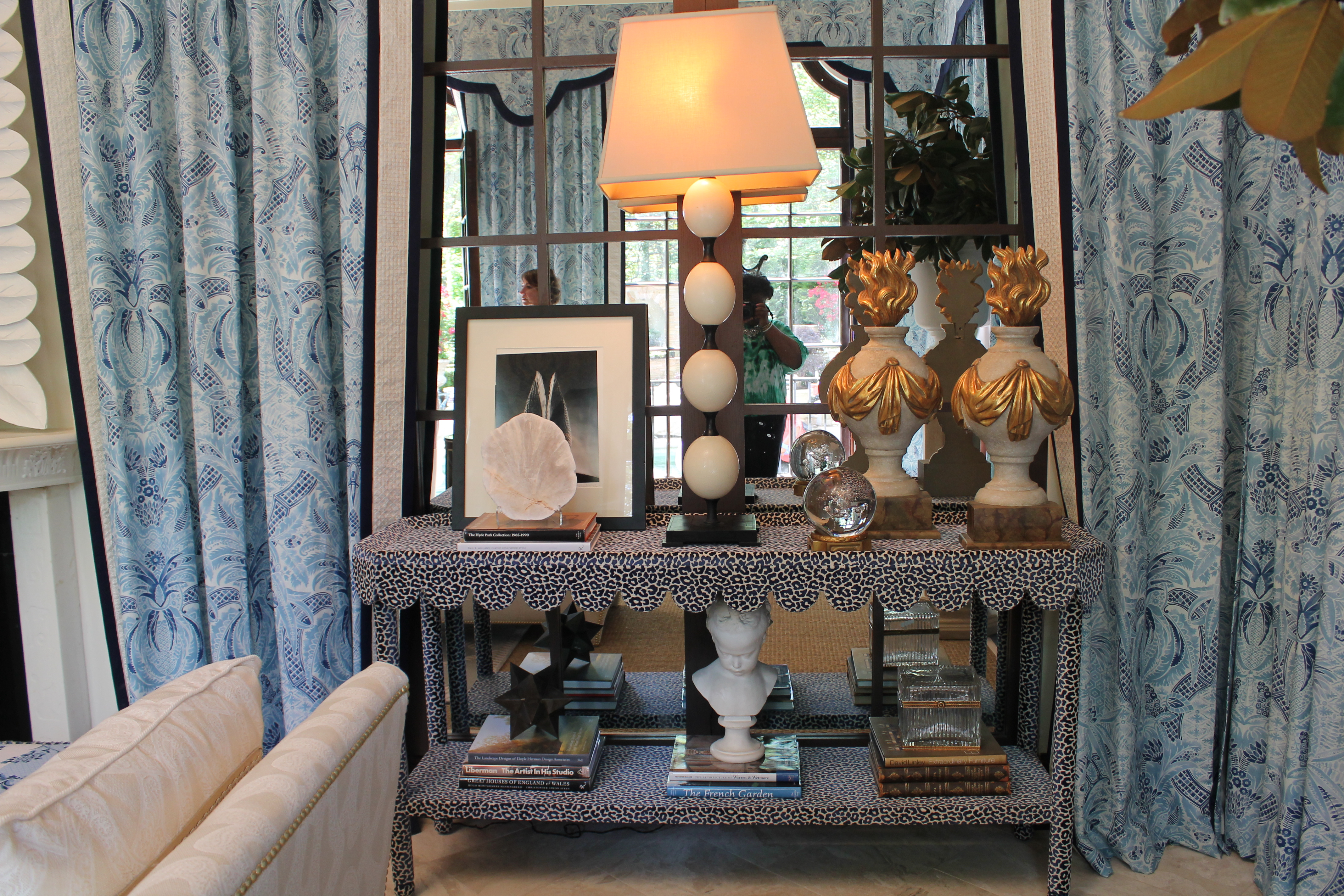 DIY Inspirationu2013Fabric Covered Console Tables